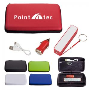 2200mAh Portable Charger Deluxe Electronics Travel Kit