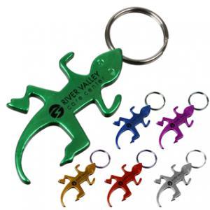 Lizard Shaped Bottle Opener Key Chain