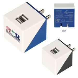 Folding Prongs Dual Port Adapter