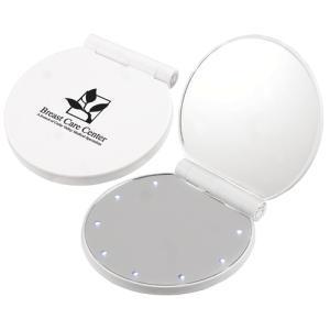 2X Magnified Illuminated LED Pocket Mirror