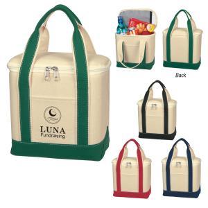 16 oz. Small Cotton Canvas Cooler Bag