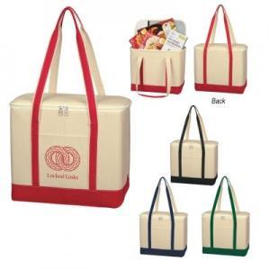 16 oz. Large Cotton Canvas Cooler Bag