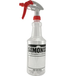 32oz Clear Bottle with Trigger Sprayer