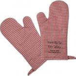 Gingham Design Oven Mitt