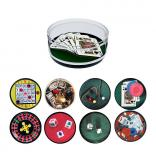 Casino Themed Compartment Coaster Caddy
