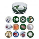 Sports Themed Compartment Coaster Caddy