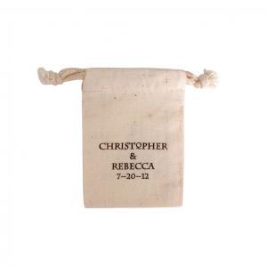 "3"" x 4"" 100% Natural Cotton Drawstring Bag"