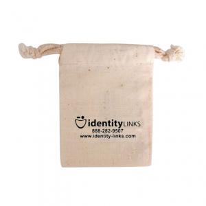 "4"" x 6"" 100% Natural Cotton Drawstring Bag"