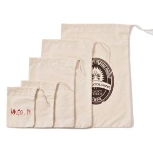 Heavyweight Natural Cotton Drawstring Bag in Assorted Sizes