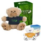 "6"" Plush Big Paw Bear With Custom Box"