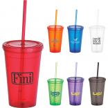Iceberg 16-oz. Double Wall Tumbler with Straw