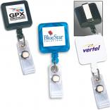 Retractable Lanyard Badge Square Shaped