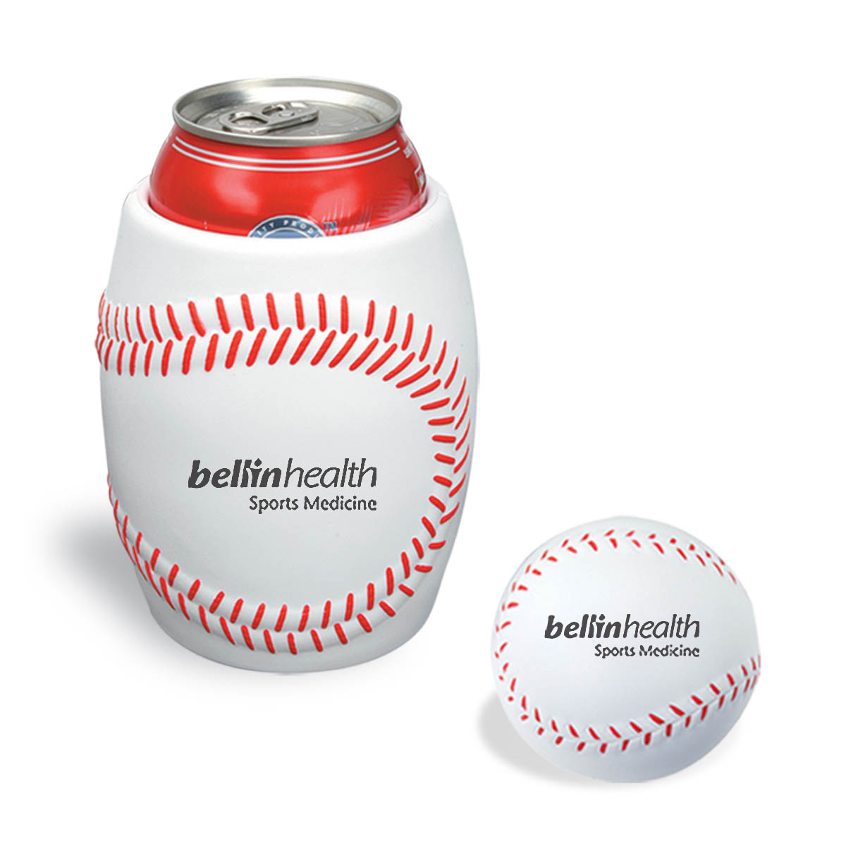 Baseball Stress Reliever In Can Koozie Combo