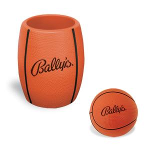 Basketball Stress Reliever In Can Koozie Combo