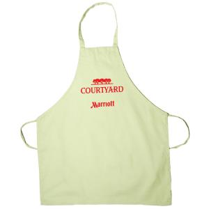 Butcher Apron Without Pockets - Natural And White