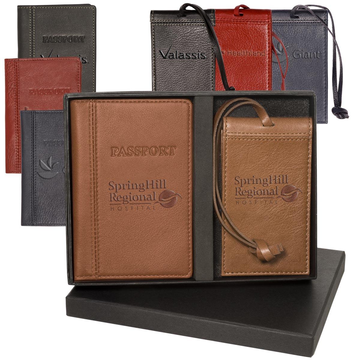Voyager Lloyd Harbor Passport & Magnetic Luggage Tag Set