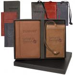 Voyager Lloyd Harbor Passport & Magnetic Luggage Tag Set