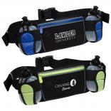 Sleek Water Resistant Sports Fanny Pack w/ Dual Bottles