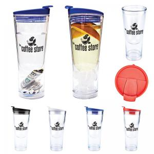 Double Wall Chill Cup with Center Ice Holder