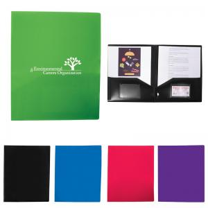 Polypropylene Two Pocket Folder