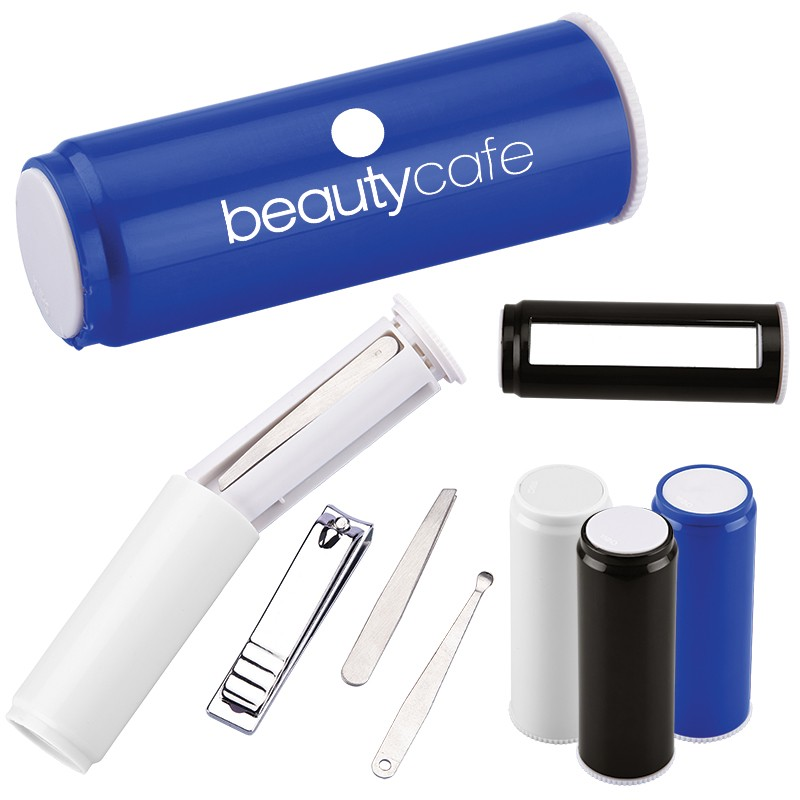 Beauty Manicure Set with Mirror and Plastic Case
