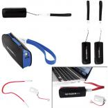 2200mAh Power Bank Charger w/ LED Light & Micro USB Cable Wrist Strap