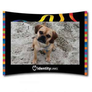 """4"""" x 6"""" - Four Color Process Curved Photo Frame"""