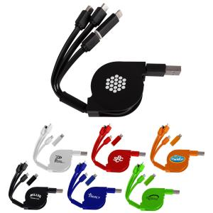 3-Way Retractable MFI Charge Cable