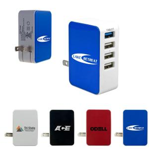 4 Port USB Folding  Wall Charger