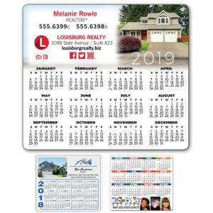 "3.5"" x 4"" Rounded Corner Calendar Magnet"