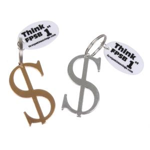 Dollar Sign Metal Key Chain