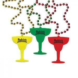 Margarita Glass Medallion Bead Necklace