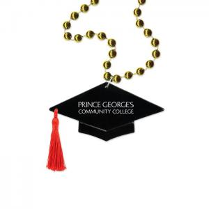 Graduation Cap Medallion Bead Necklace