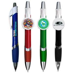 Bella Circle Clip Pen with a Full Color Imprint