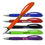 Heldeep Rubberized Click Pen with a Full Color Imprint