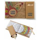 Adult Coloring Book To-Go with Wooden Pencil Set