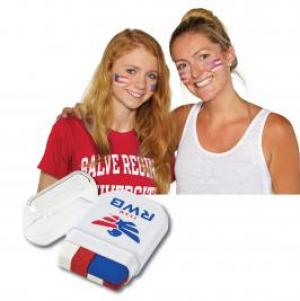 USA Flag Compact Face Paint with Glitter