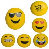 Squeezable Cheerful Emoji Ball