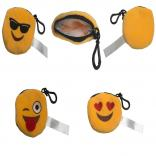 Emotion Emoji Plush Coin Purse Keychain