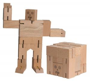 Wood Transformer Puzzle Cube