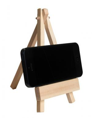 Artistic Wooden Easel Phone Holder