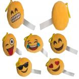 Cheerful Emoji Plush Key Chain