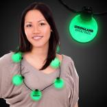 Unique Green LED Ball Necklace