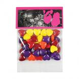 1 oz Crazy Hearts Candy in Custom Header Bags