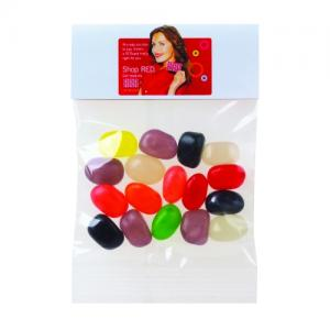 1 oz Assorted Jelly Beans in Custom Header Bags