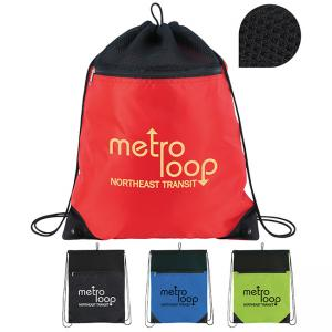 Spacious Polyester Drawstring Backpack