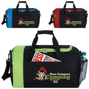 Sporty Duffel Bag with U-Shape Opening