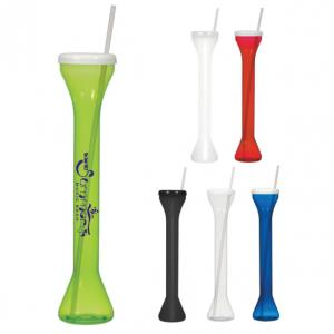 24 Oz. Slim Shatterproof Cup with Straw