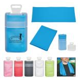 Cooling Sports Towel with Plastic Case