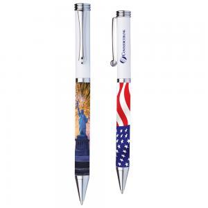 Patriotic Brass Twist Pens
